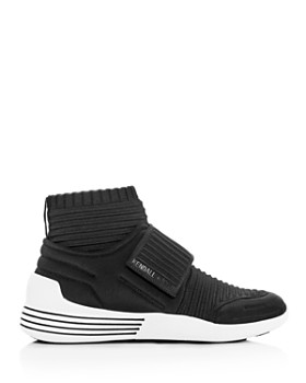 Kendall + Kylie - Women's Brax Ribbed Knit Mid-Top Wedge Sneakers