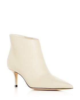 73618c488fe1 Jimmy Choo - Women's Marinda 65 Mid-Heel Leather Booties ...