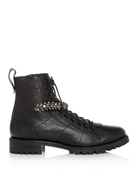 Jimmy Choo - Women's Cruz Embellished Low-Heel Booties
