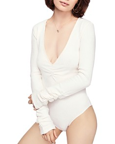 Free People - Cozy Up With Me Rib-Knit Bodysuit