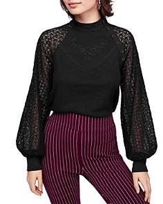 Free People - Sweetest Thing Crochet-Sleeve Top
