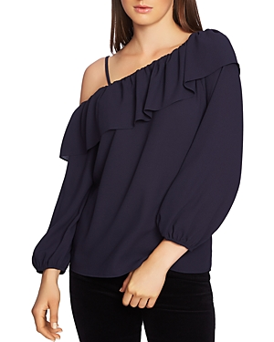 1.state Cold-Shoulder Ruffle Top