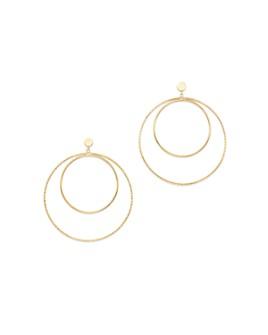 Moon & Meadow - Double Hoop Earrings in 14K Yellow Gold - 100% Exclusive