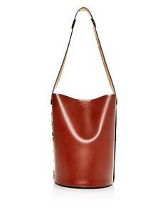 Marni - Punch Medium Leather Bucket Bag