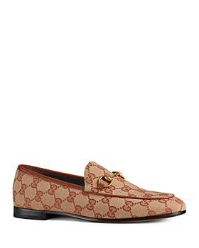 Gucci - Women's Jordaan GG Canvas Loafers