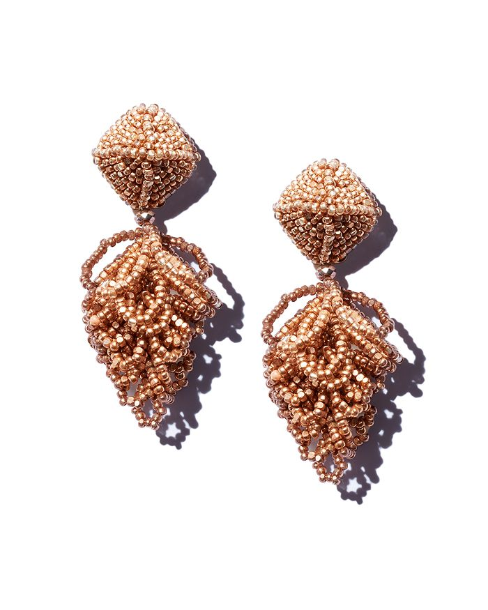 Sachin and Babi - Mini Lulu Silk Georgette Clip-On Drop Earrings