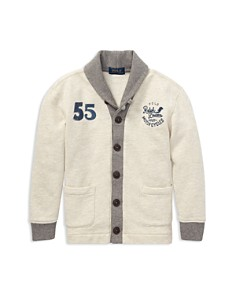 Ralph Lauren - Boys' French Terry Cardigan - Little Kid