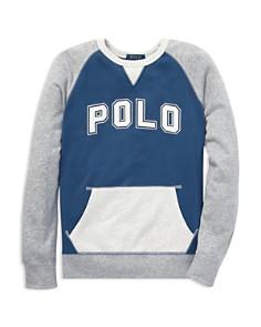 Ralph Lauren - Boys' Cotton French Terry Sweatshirt - Big Kid