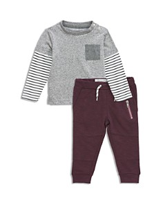 Sovereign Code - Boys' Layered-Look Tee & Moto Jogger Pants Set - Baby