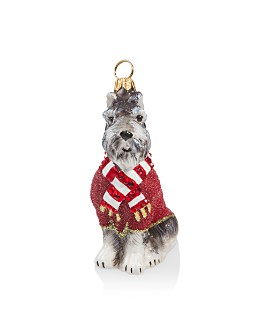 Joy to the World - Gray Schnauzer Ornament