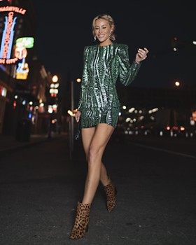 AQUA - Happily Grey x AQUA Sequined Mini Dress - 100% Exclusive