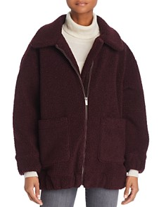Splendid - Oversized Fleece Zip Jacket
