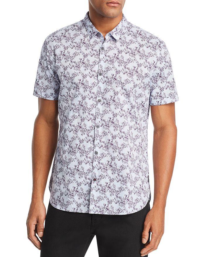 John Varvatos Star USA - Floral-Print Short-Sleeve Regular Fit Shirt