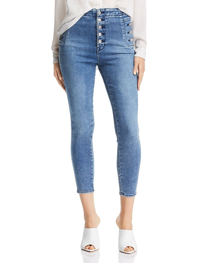 80455817c8 J Brand Natasha Sky High Crop Skinny Jeans in Meteor | Bloomingdale's