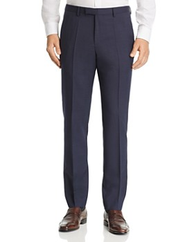 BOSS - BOSS Leenon Box-Weave Regular Fit Wool Dress Pants
