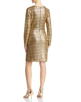 Tadashi Shoji - Sequined Faux-Wrap Dress