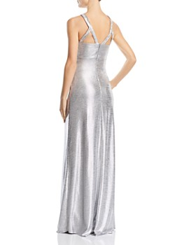 Avery G - Embellished Metallic Gown
