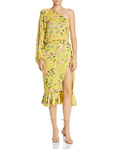 Hemant and Nandita - One-Shoulder Floral Blouson Dress