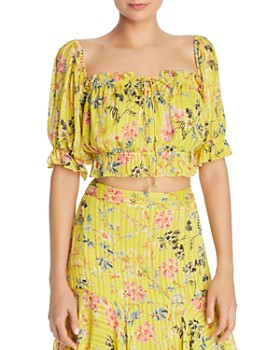 Hemant and Nandita - Floral Cropped Top
