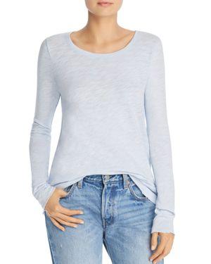 Distressed Slub Cotton Jersey Long-Sleeve T-Shirt - Blue Size Xs