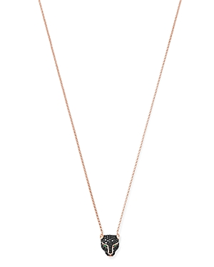 Bloomingdale's Black Diamond & Emerald Panther Pendant Necklace in 14K Rose Gold, 18 - 100% Exclusiv