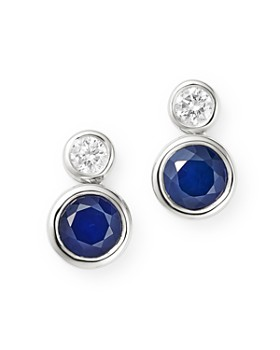 5e1fb33da Bloomingdale's - Blue Sapphire & Diamond Bezel Set Drop Earrings in 14K  White Gold - 100 ...