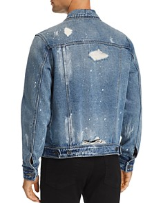 BLANKNYC - Distressed Paint-Splatter Denim Trucker Jacket