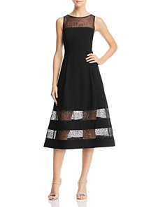 Aidan by Aidan Mattox - Embroidered Crepe Dress