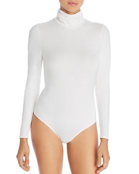 Little Black Bodysuit - Phoebe Mock-Neck Bodysuit