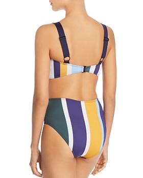 Mei L'ange - Lynn Multi Stripe Utility Bikini Top & Ariana High Waist Bikini Bottom