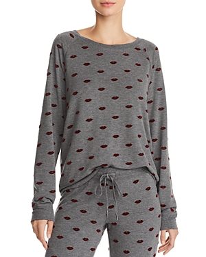 Pj Salvage LIPS LOUNGE SWEATSHIRT