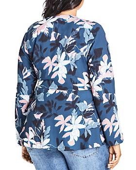 City Chic Plus - Luna Floral Print Wrap Top
