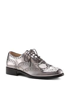 Botkier - Women's Callista Metallic Wingtip Oxford Loafers