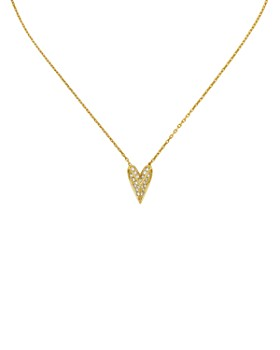 "KARL LAGERFELD Paris - Pyramid Heart Pendant Necklace, 16"""