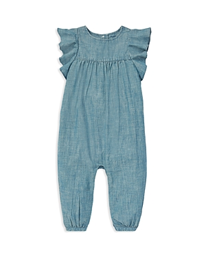 Ralph Lauren Girls Ruffled Chambray Romper  Baby