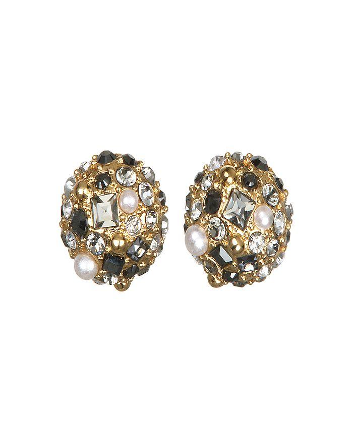 KARL LAGERFELD Paris - Scattered Crystal Stud Earrings
