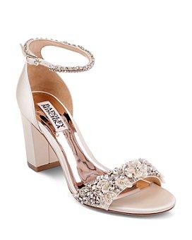 Badgley Mischka - Women's Finesse Embellished Block Heel Sandals