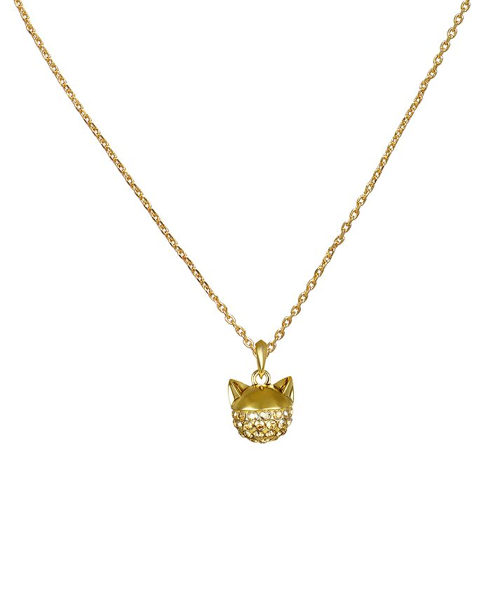 KARL LAGERFELD Paris - Crystal Choupette Pendant Necklace, 16""