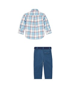 Ralph Lauren - Boys' Plaid Shirt & Belted Chinos Set - Baby
