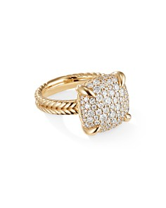 David Yurman - Chatelaine Ring with Diamonds in 18K Yellow Gold