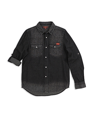 7 For All Mankind Boys Western Denim Shirt  Little Kid