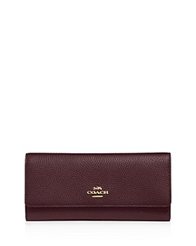 COACH - Pebbled Leather Trifold Wallet