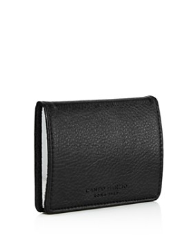 2707ac68a45 ... Campo Marzio - Pebbled Faux Leather Business Card Holder