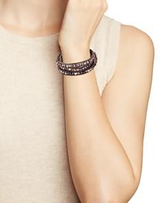 Chan Luu - Garnet Wrap Bracelet in Sterling Silver