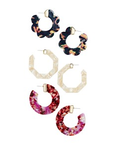 BAUBLEBAR - Triple Threat Hoop Earrings Gift Set, Set of 3
