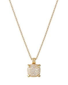 David Yurman - Chatelaine Pendant Necklace with Diamonds in 18K Yellow Gold, 18""