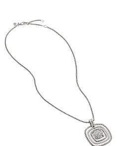 David Yurman - Chatelaine Diamond Pavé Pendant Necklace, 17""