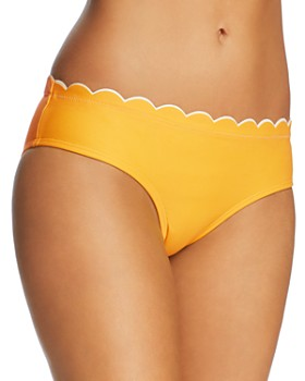 kate spade new york - Contrast-Scalloped Hipster Bikini Bottom
