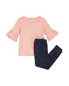 Splendid - Girls' Bell-Sleeve Tee & Star-Print Leggings Set - Little Kid