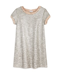 Splendid - Girls' Metallic Shift Sweater Dress - Big Kid